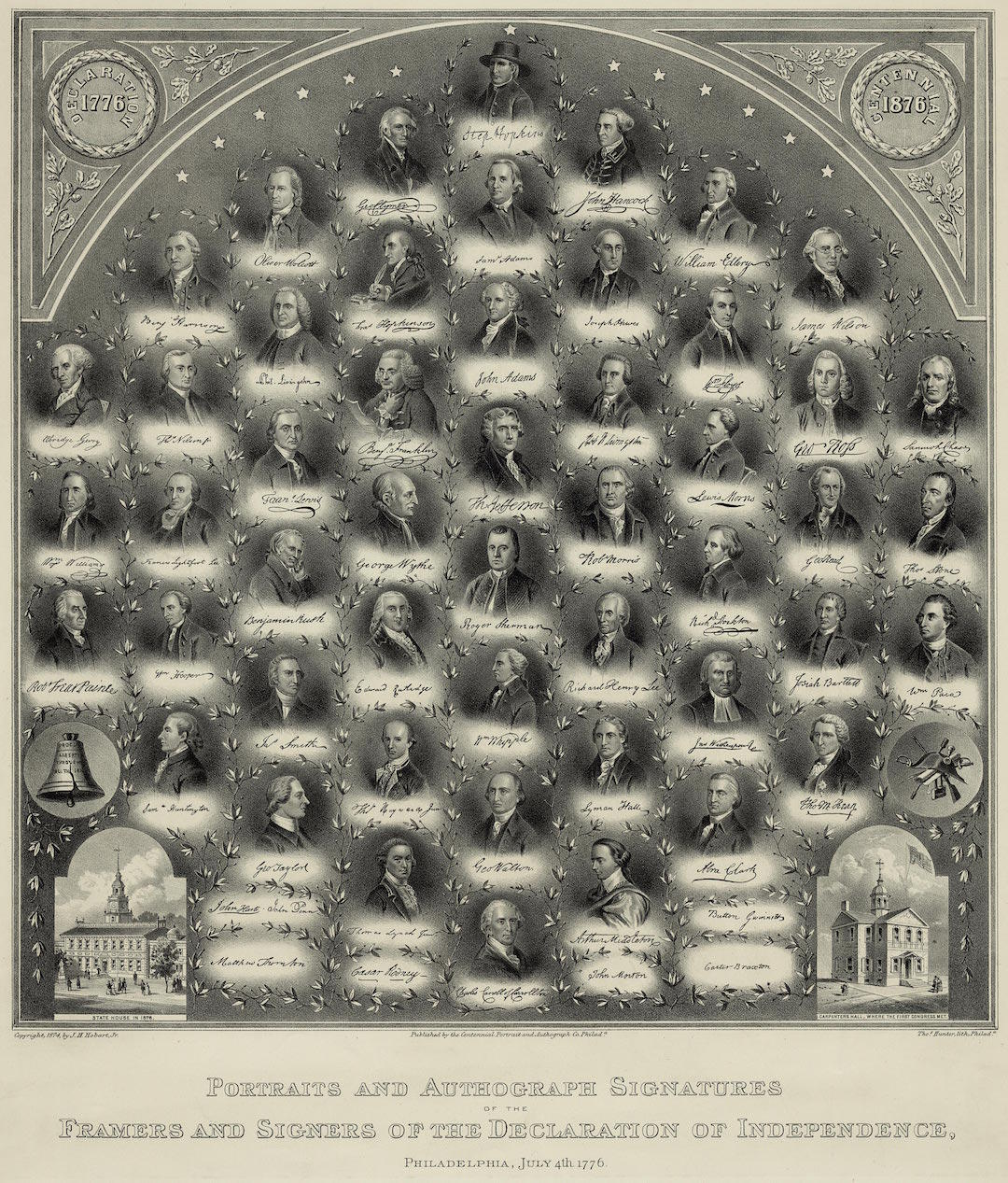 Bicentennial Engraving of the Signers of the Declaration of Independence