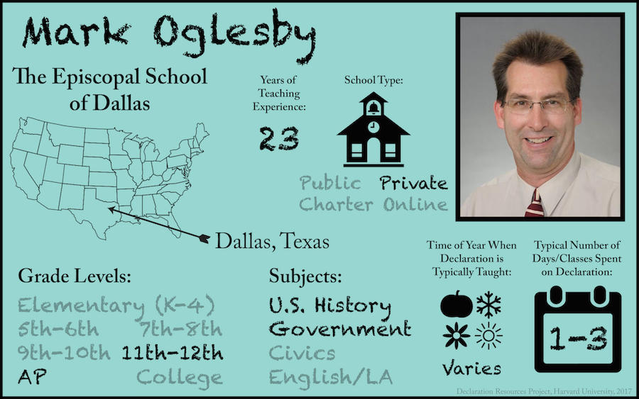 Mark Oglesby Teacher Profile