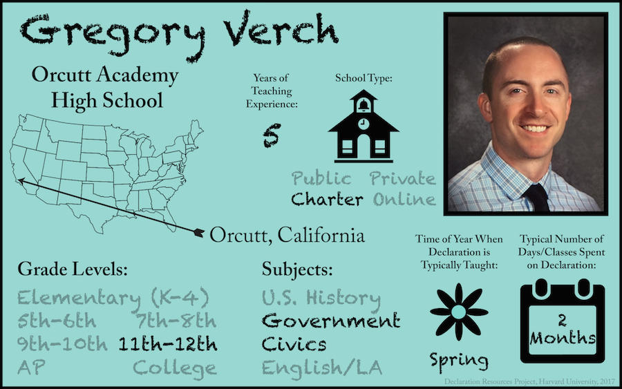 Gregory Verch Teacher Profile