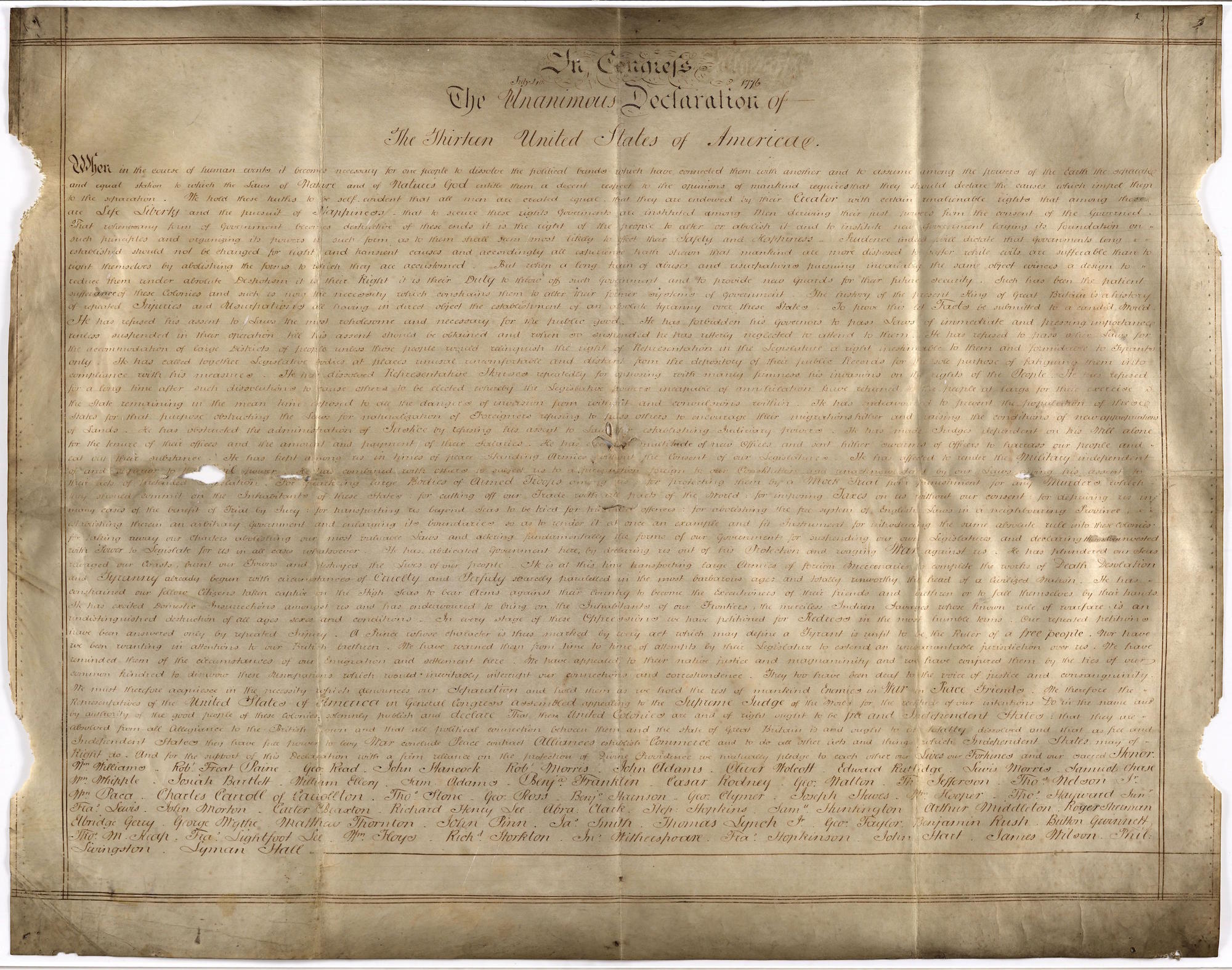 The Sussex Declaration. West Sussex Record Office Add Mss 8981.