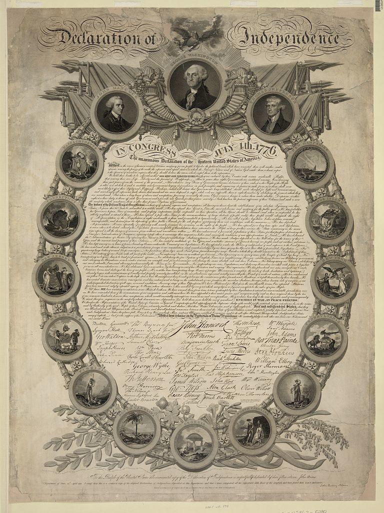 John Binns, Declaration of Independence, 1819