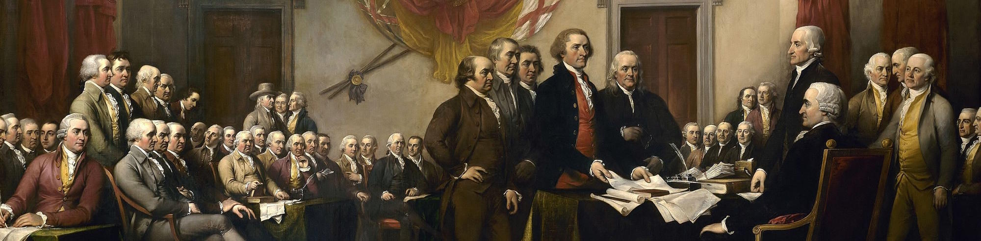 John Trumbull, Declaration of Independence (Public Domain)