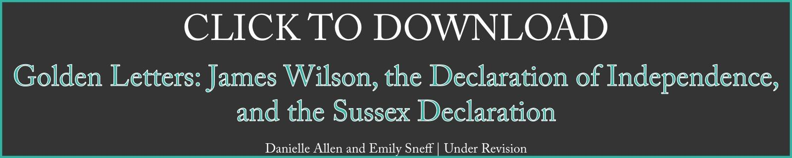 Click to Download Paper on James Wilson and the Sussex Declaration