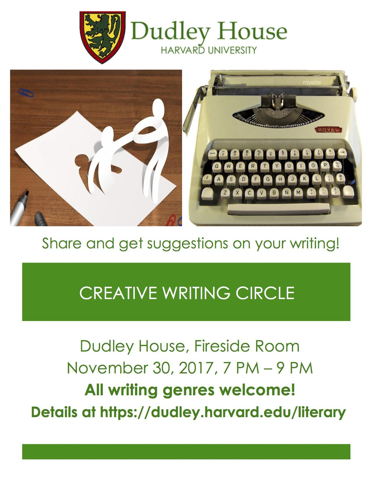 Creative Writing Circle | Dudley House