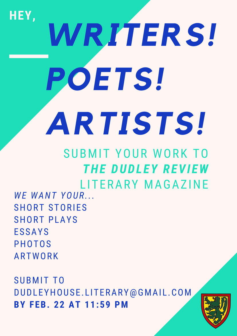 submissions for dudley review literary magazine due feb 22