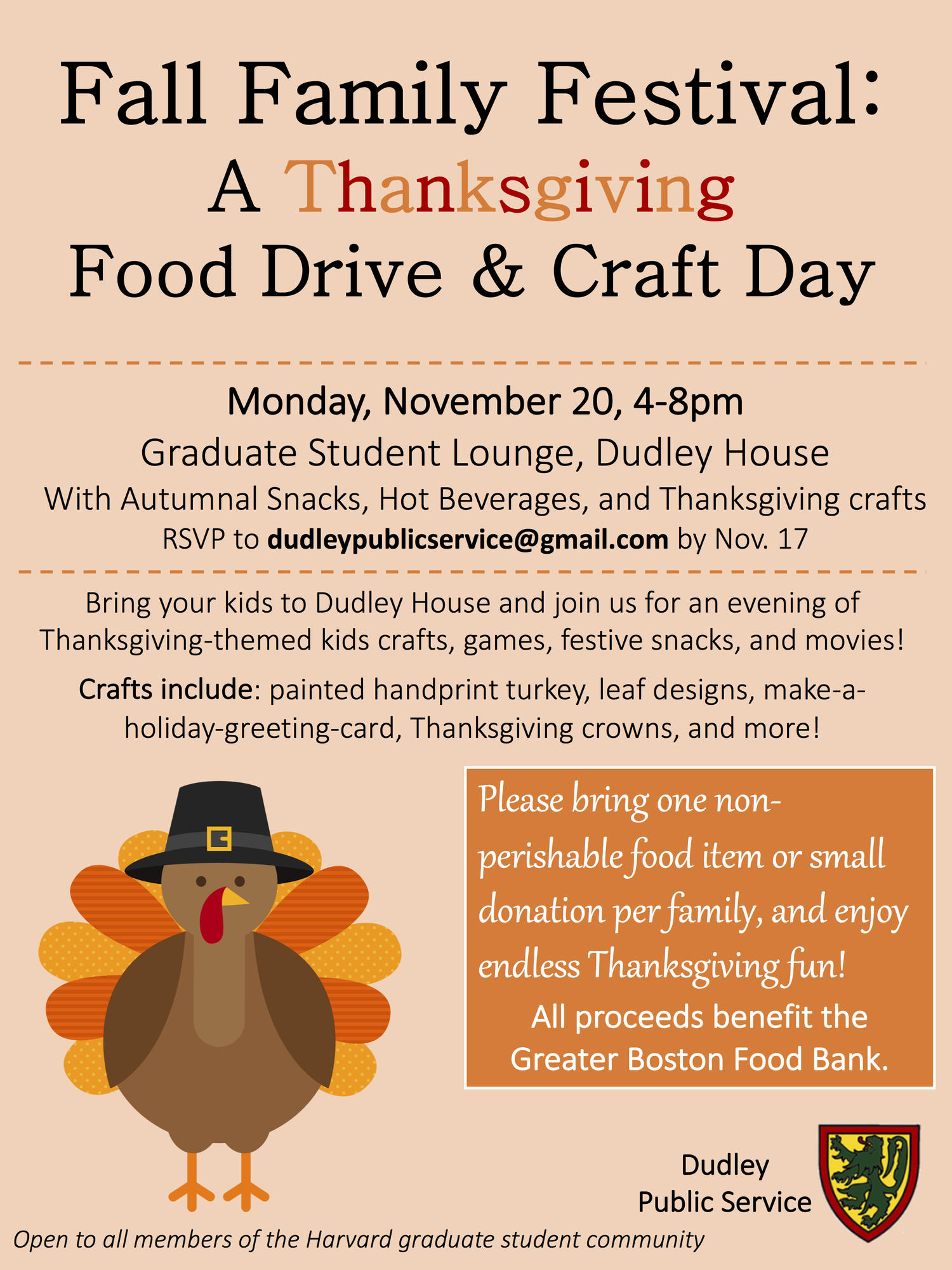 Fall Family Festival A Thanksgiving Food Drive Craft Day