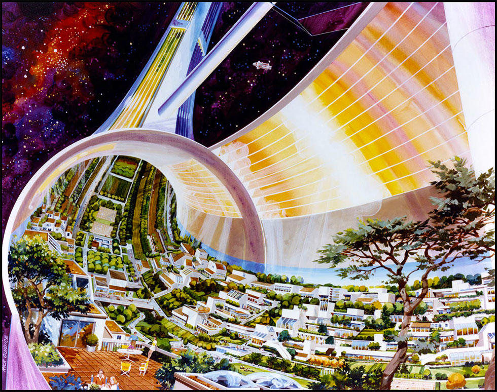 Space Colony Concept Rendering
