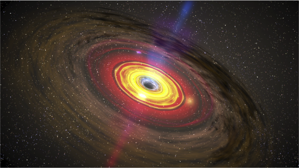 Artist's depiction of accretion around a black hole