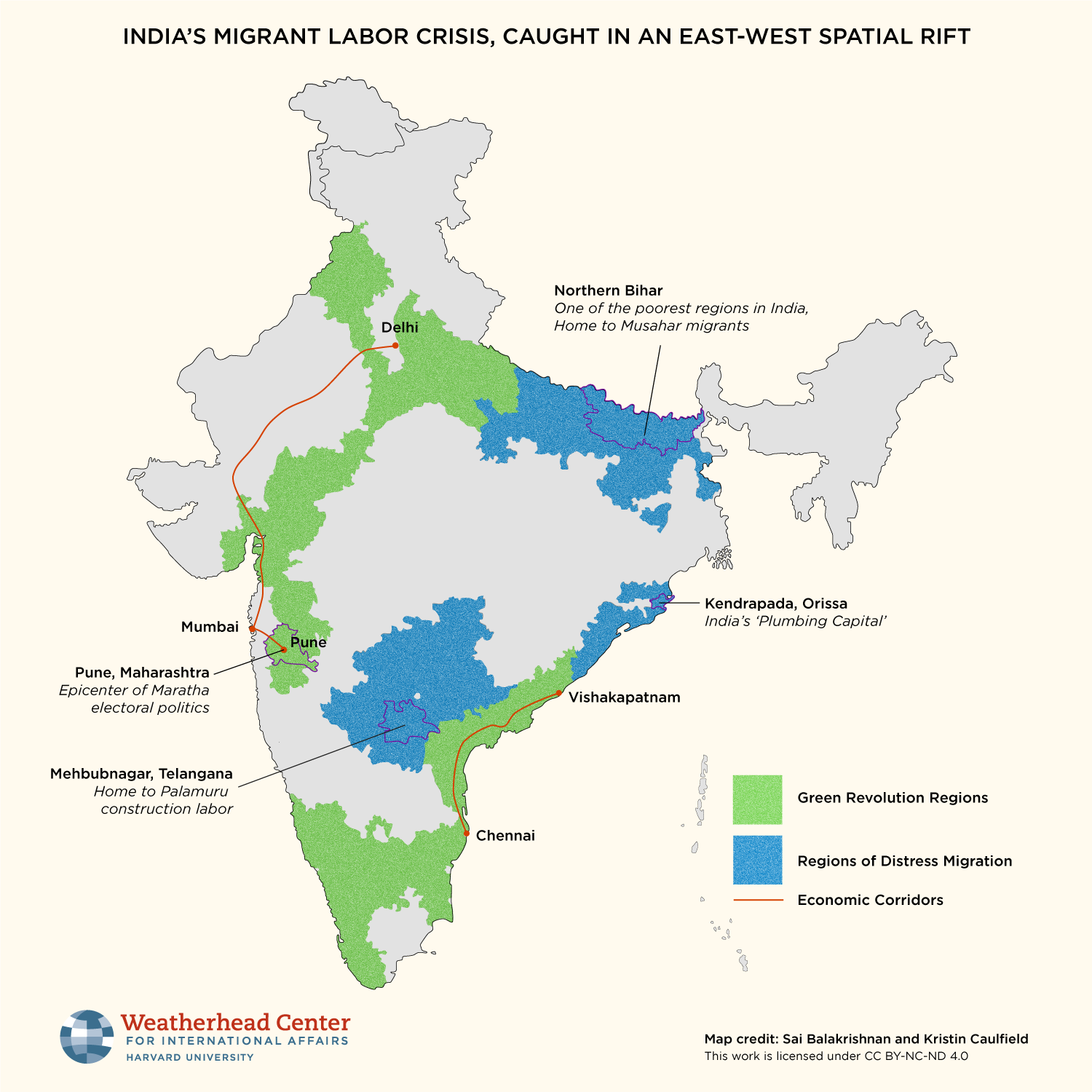 Map of India's migrant crisis