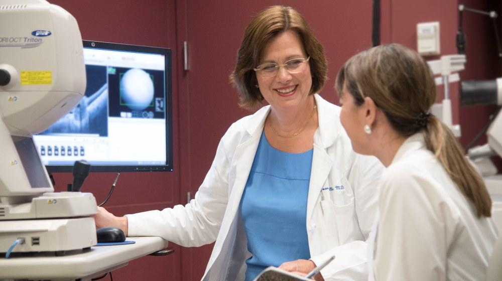 Harvard Ophthalmology Chair Joan W. Miller mentors trainee