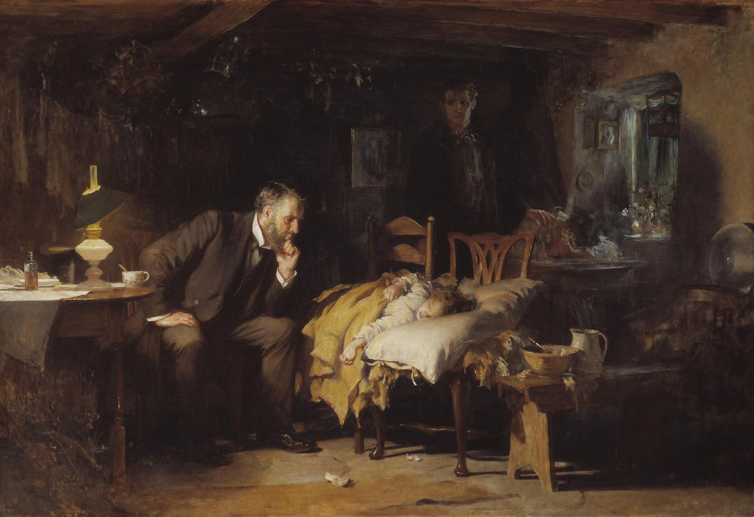 'The Doctor' painting by Luke Fildes