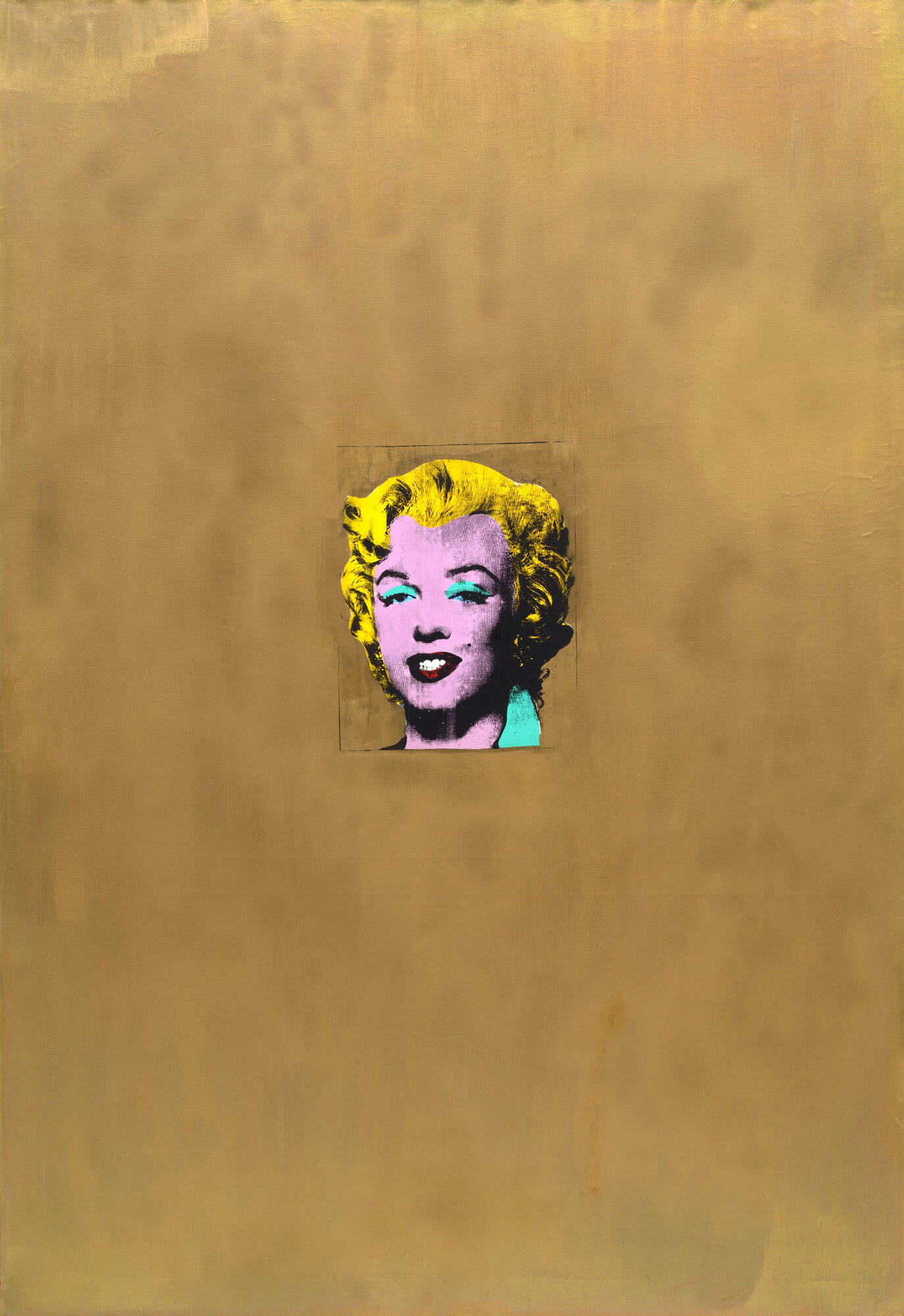 'Gold Marilyn Monroe' painting by Andy Warhol.