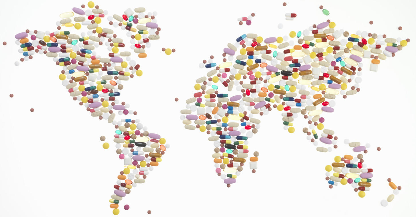 World map of medicines