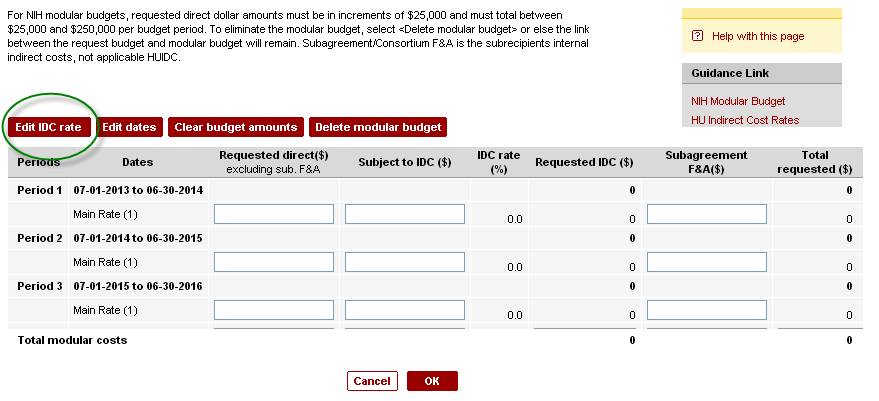 Nice Nih Modular Budget Template Images Gallery >> Budget ...