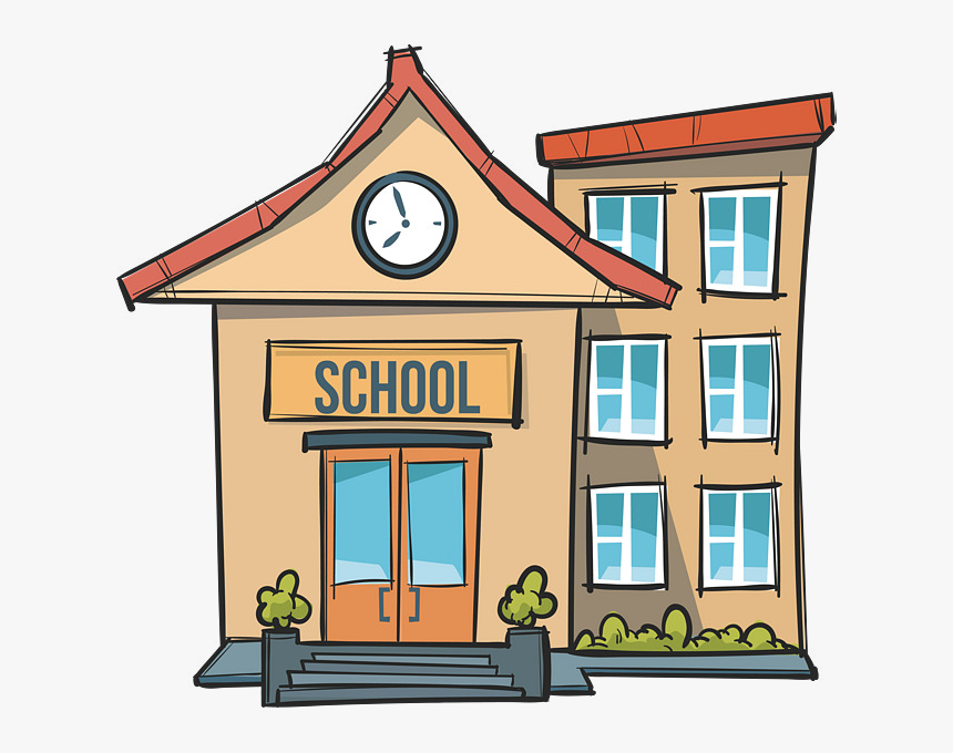 Clipart image of a school