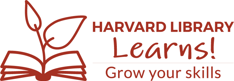 Harvard Library Learns Logo -- Grow your skills!