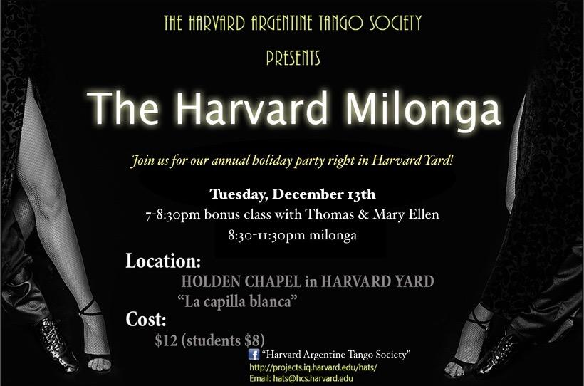 The Harvard Milonga