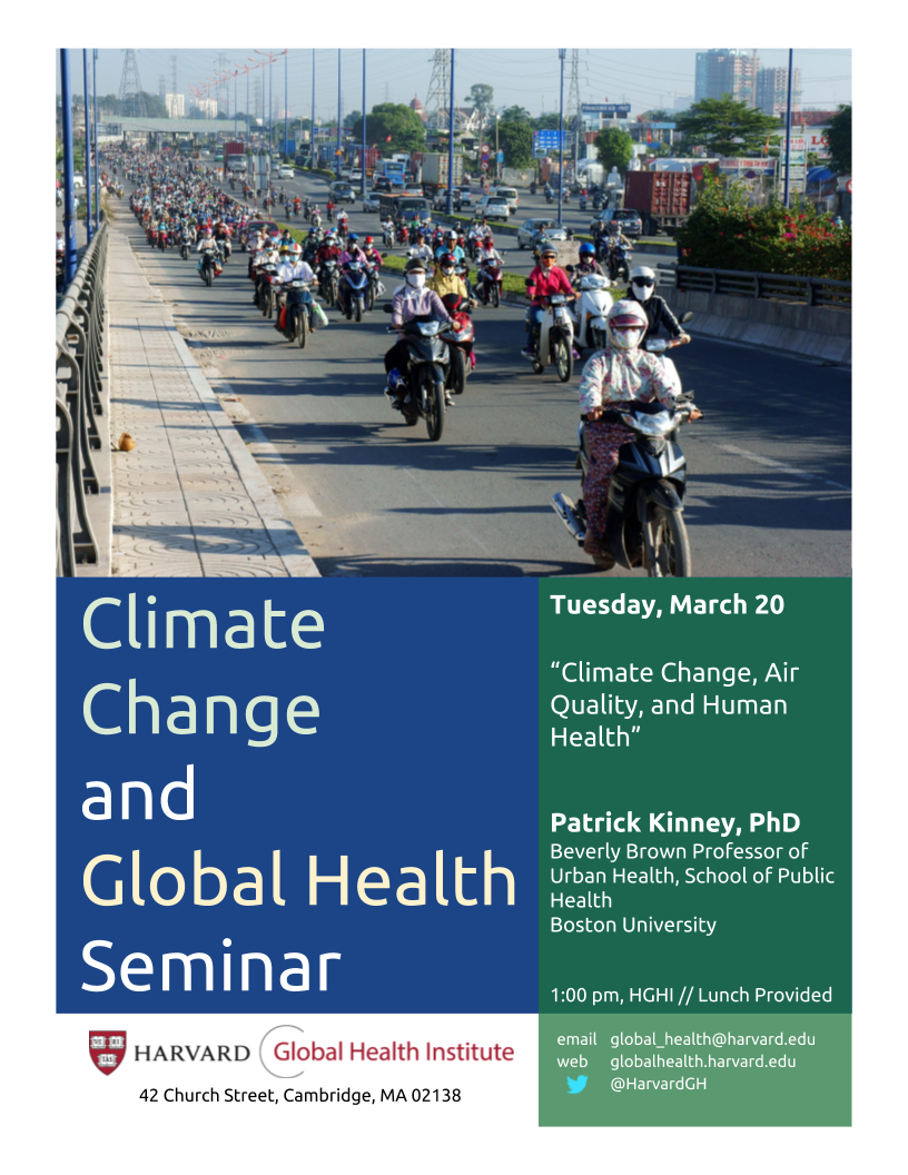 Climate Change and Global Health Seminar Series