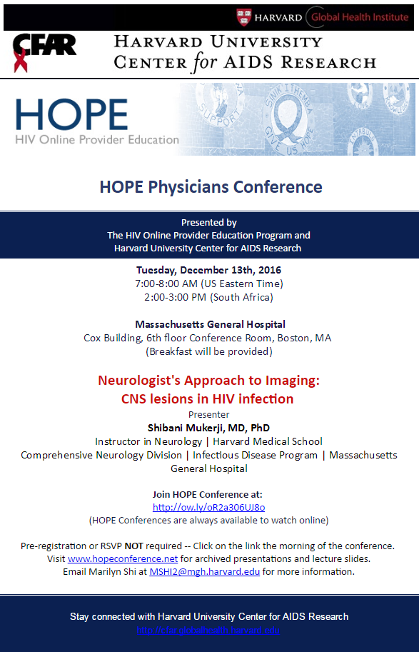 HOPE Physicians Conference: Neurologist's Approach to Imaging: CNS