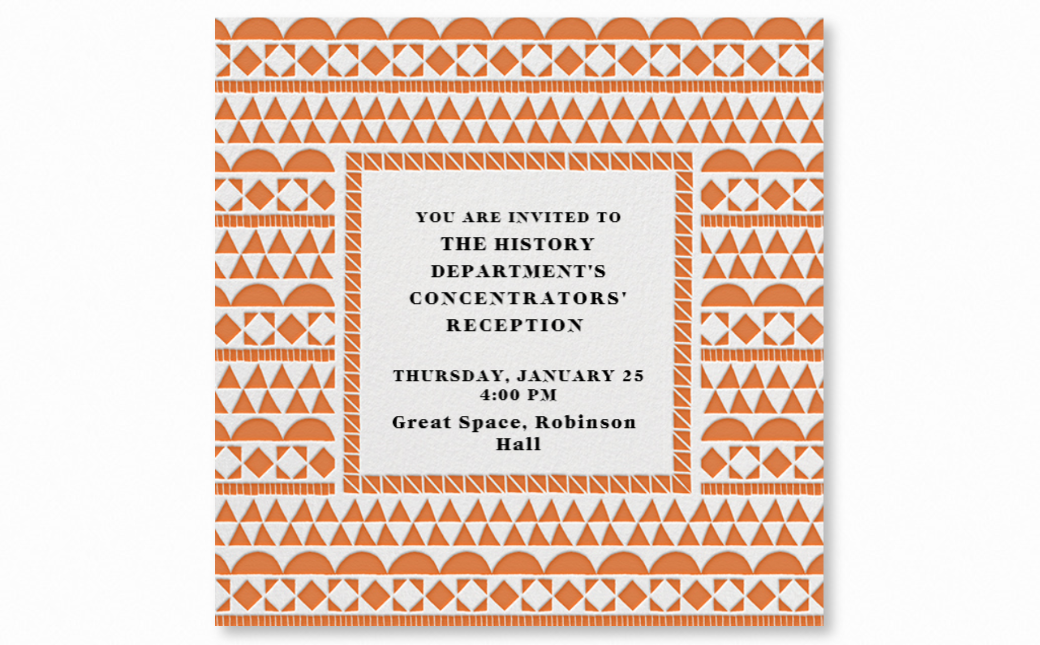Concentrator's Reception invite