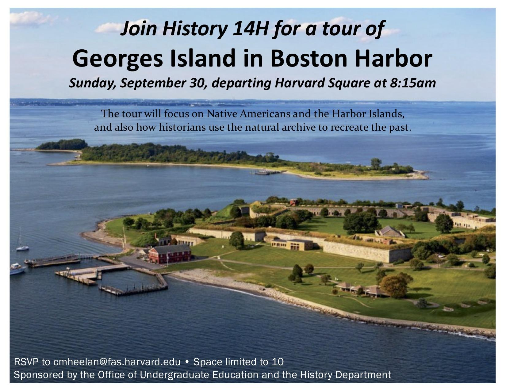 Image of outing to Georges Island