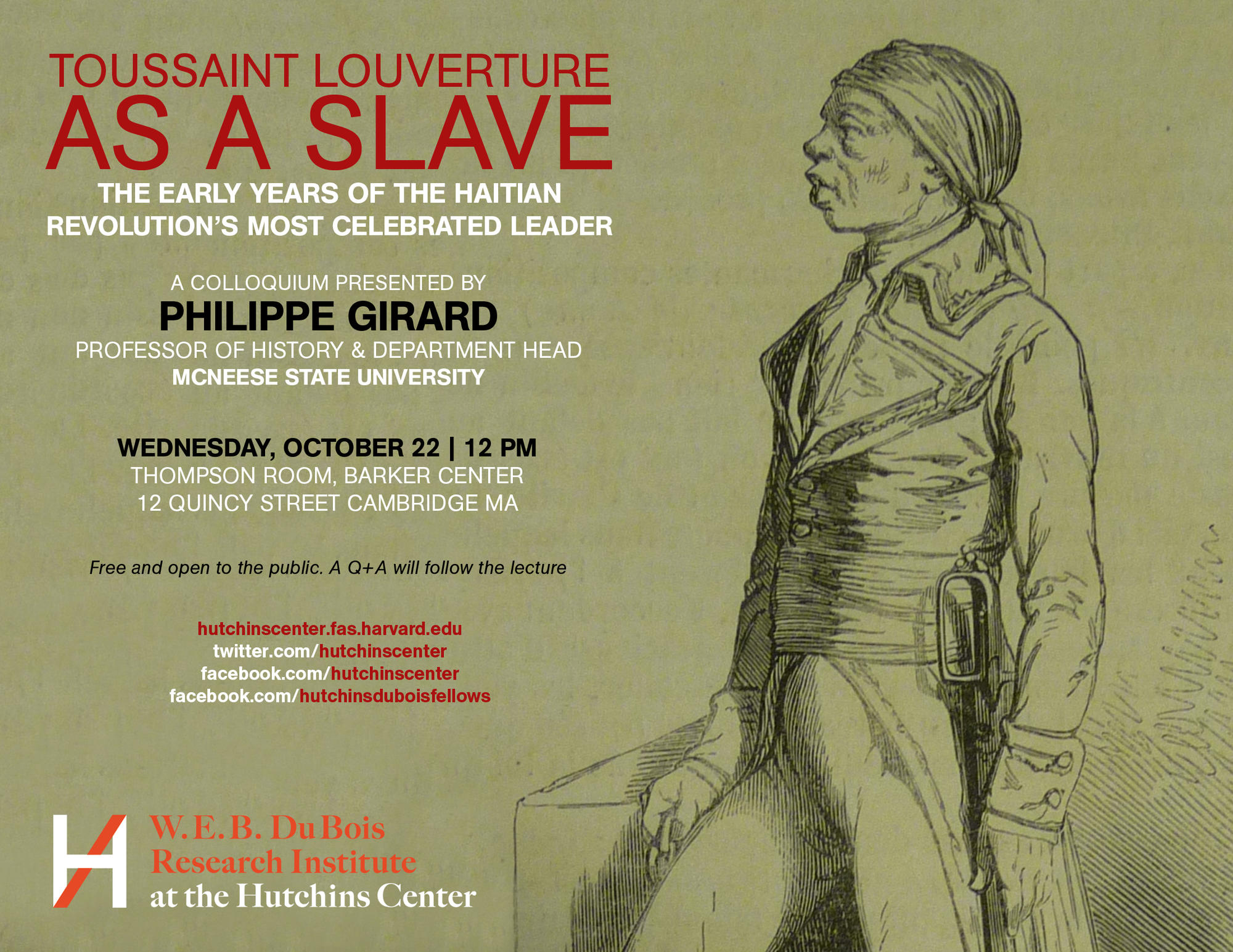 Toussaint Louverture As a Slave - Oct. 22nd, 12pm