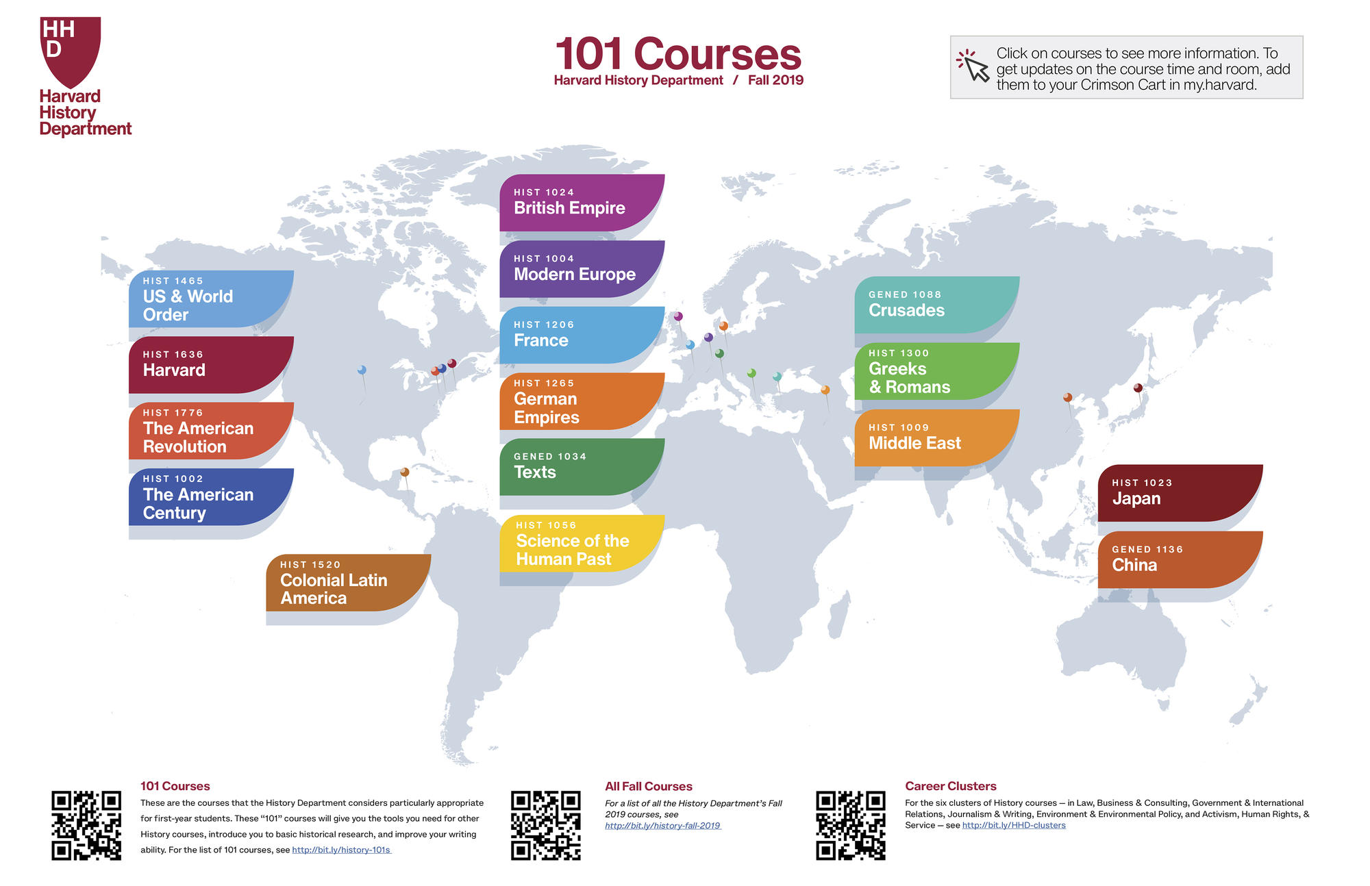 History Courses - Map Format Picture (Fall 2019)