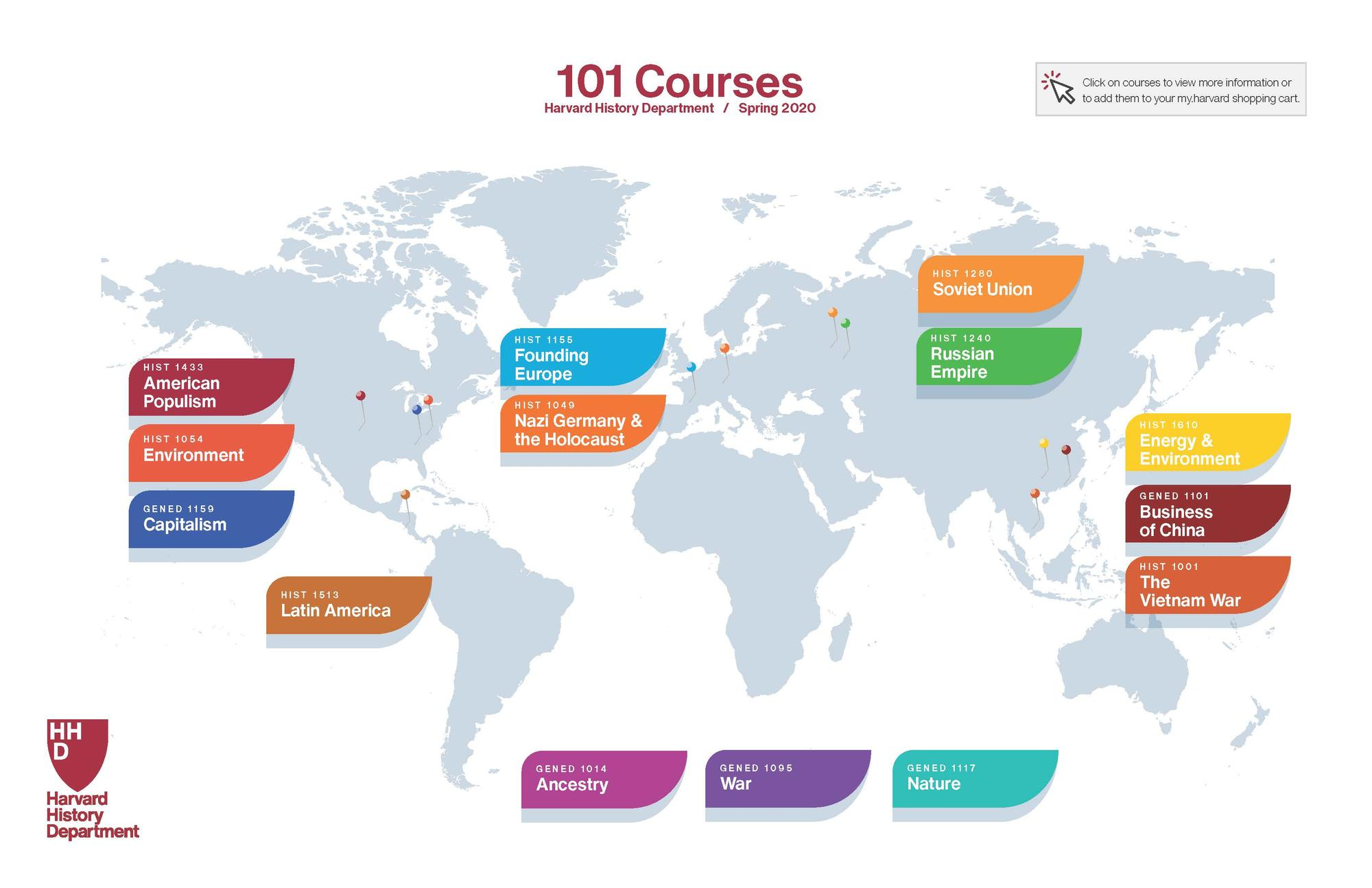 Picture of Spring 101 Course Map