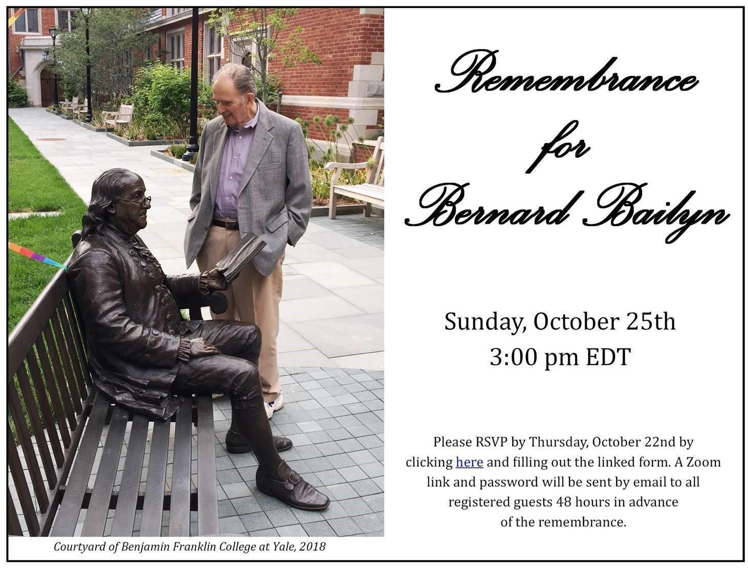 Remembrance for Bernard Bailyn