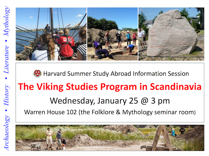 Viking Studies at Warren House 102, January 25th