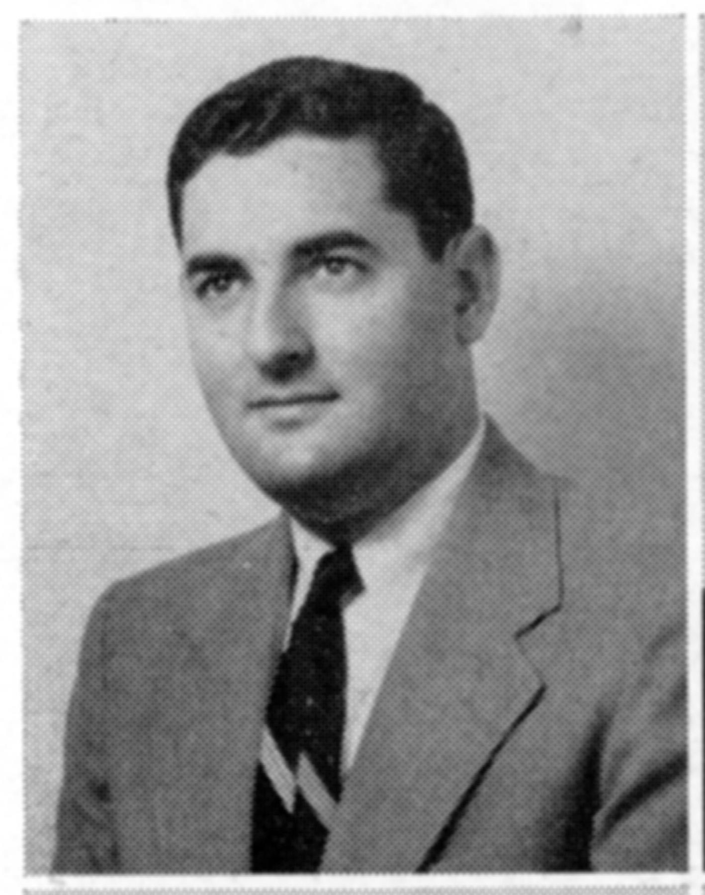 1955 yearbook photo of Arthur Greenbaum