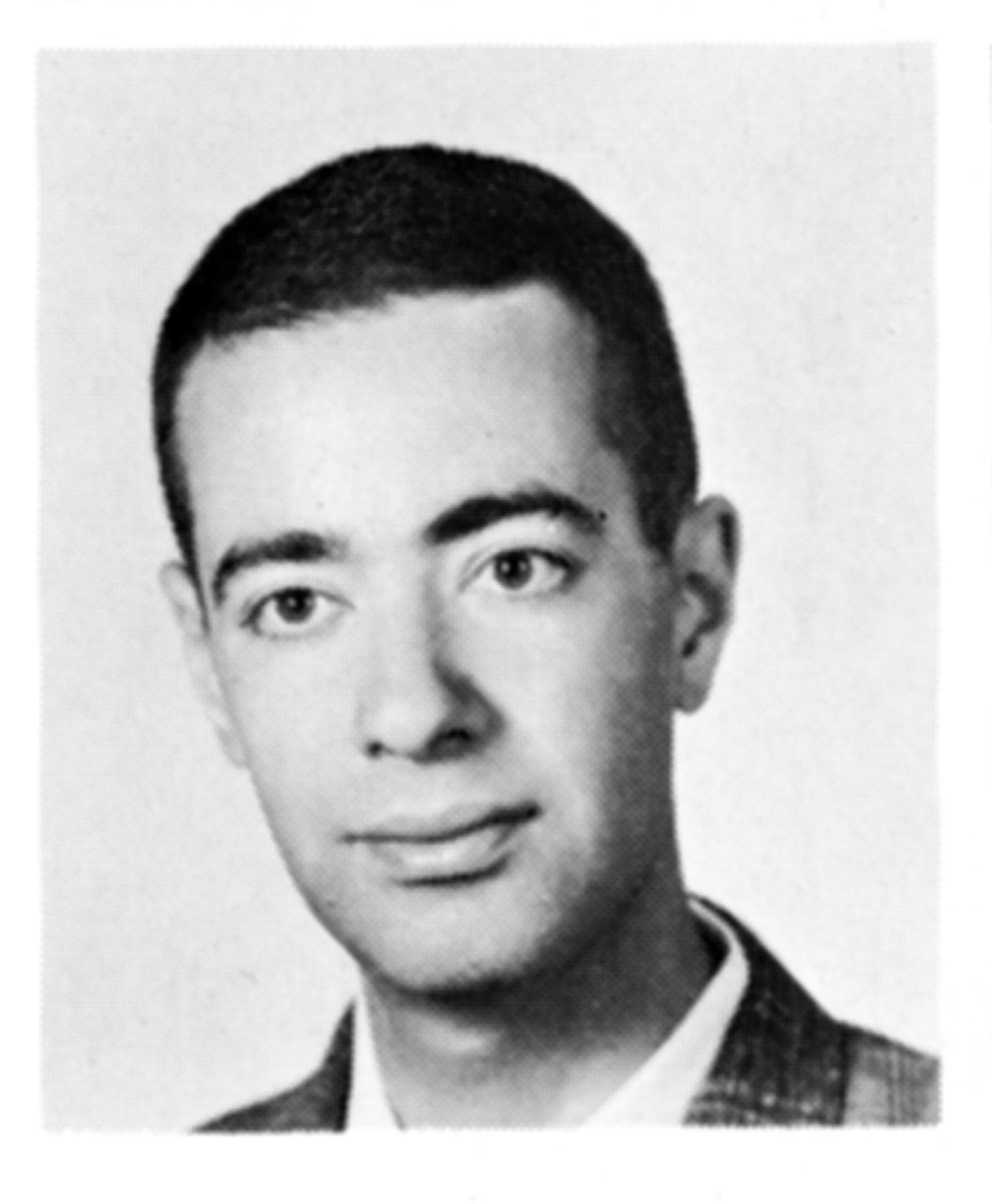 Elliot Rothenberg HLS yearbook headshot 1964