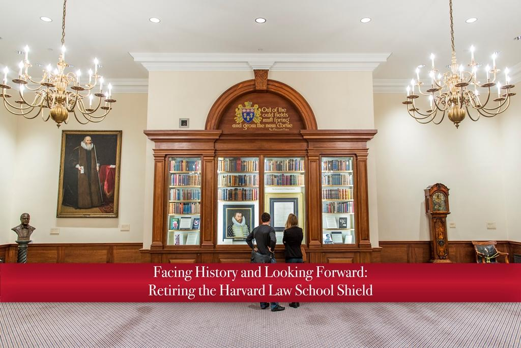 View of the Caspersen Room, red banner on lower half of image with exhibit title