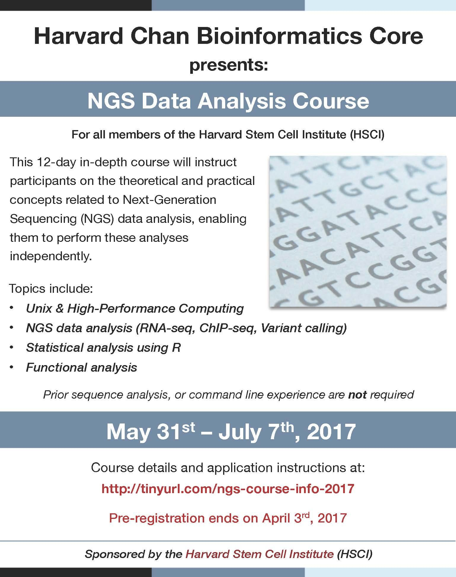 NGS Course Announcement flyer