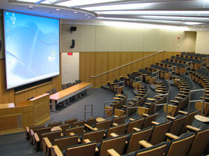 Tsai auditorium photo, view from left side seat
