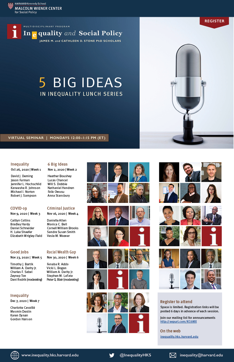5 Big Ideas in Inequality poster