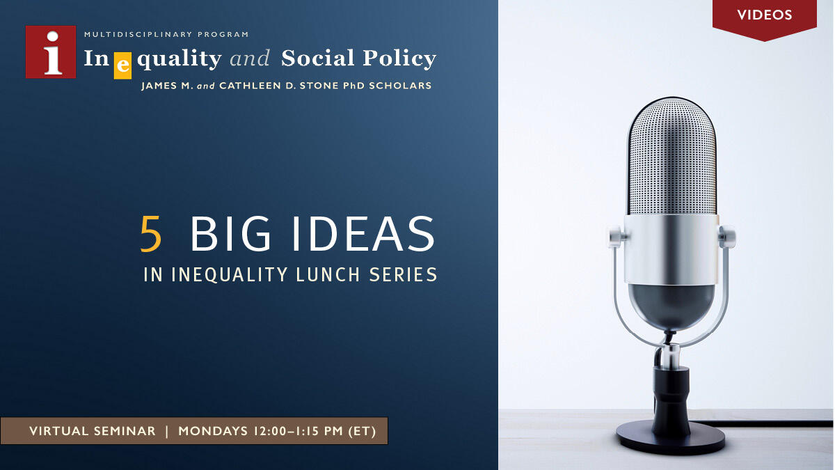 5 Big Ideas in Inequality Series - Videos