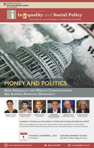Money and Politics event poster