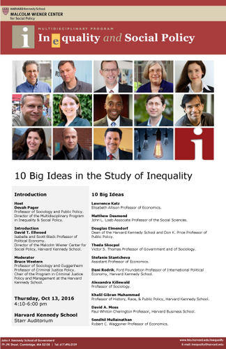 10 Big Ideas in the Study of Inequality