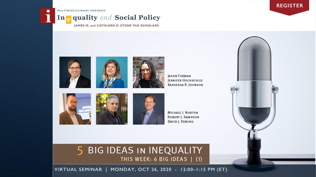 5 Big Ideas in Inequality | Week 1