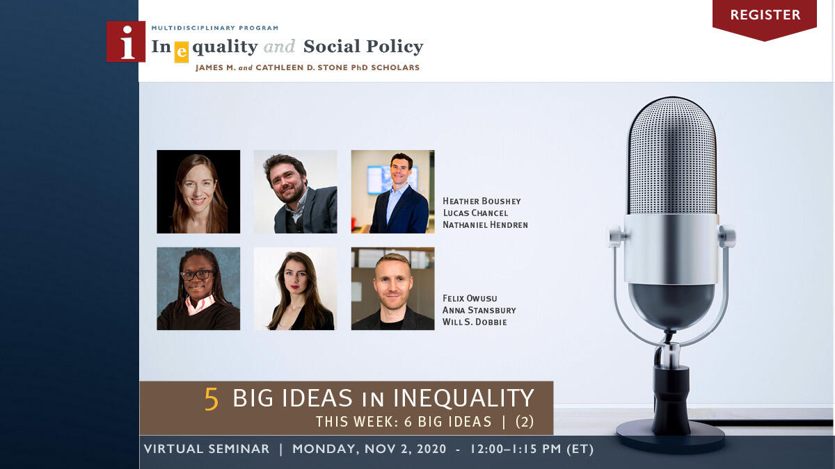 5 Big Ideas in Inequality | Week 2