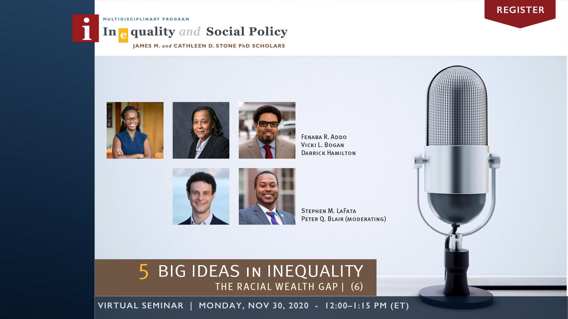 5 Big Ideas in Inequality Series | Week 6