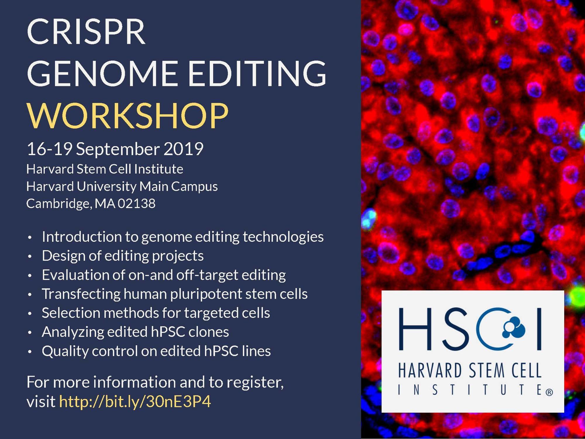 Image of CRISPR workshop flyer