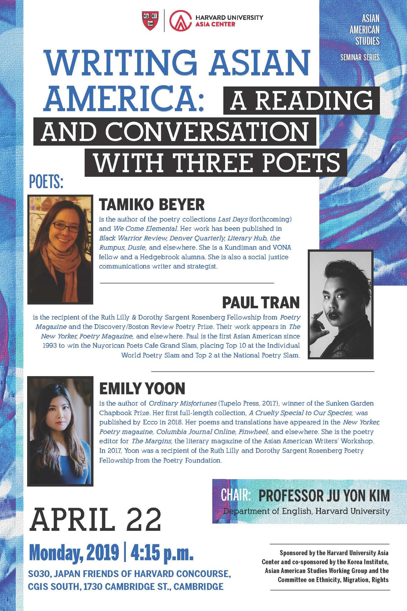 4/22 Poetry Panel