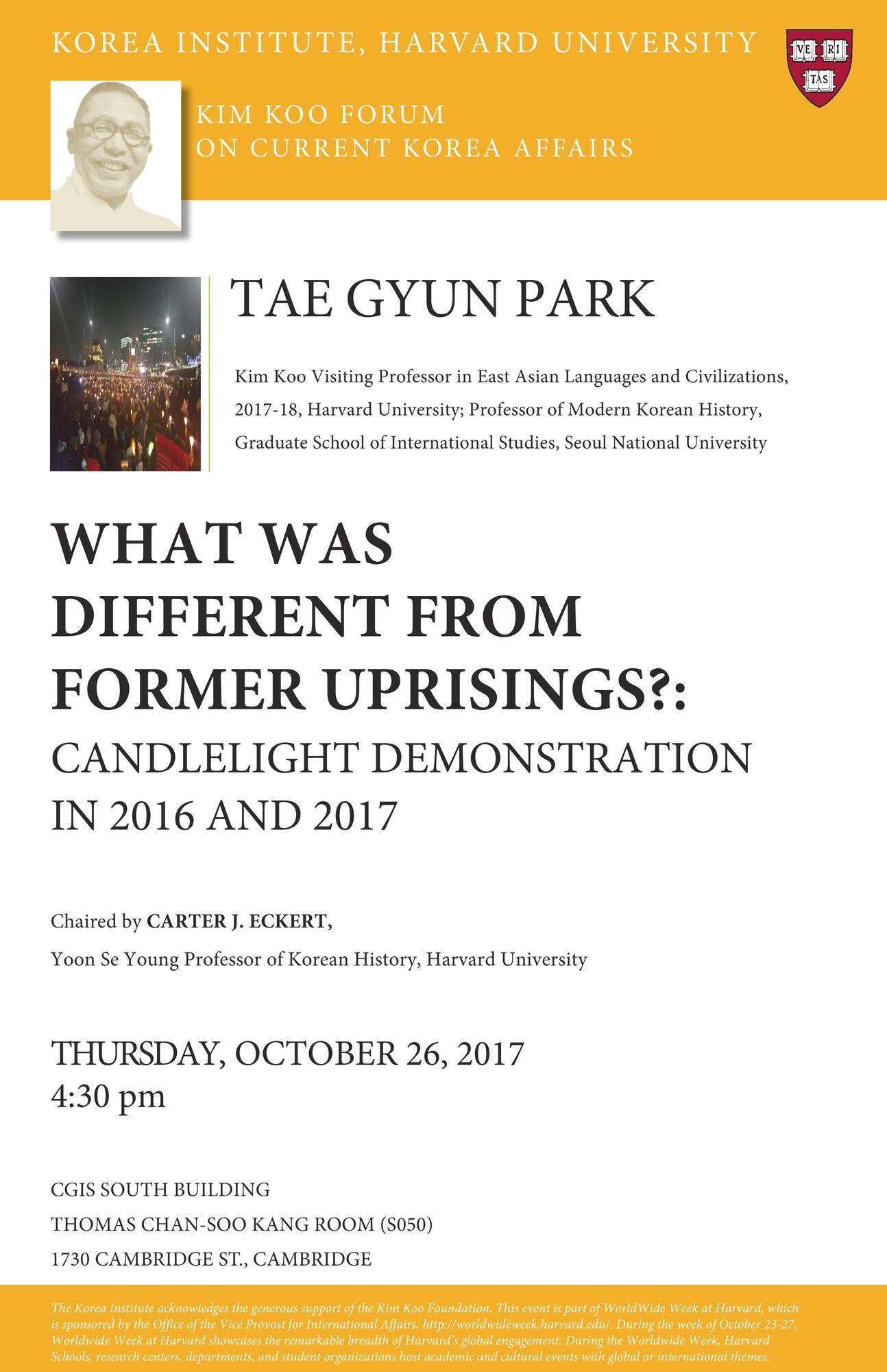 Tae Gyun Park's Event Poster