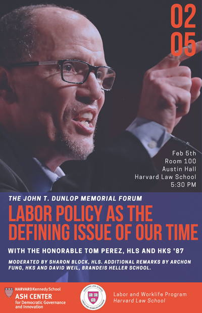 Dunlop Forum 2018 Tom Perez