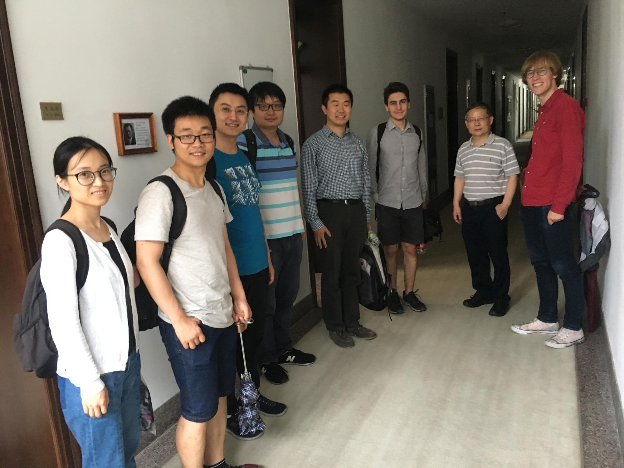 The group during our visit to Tsinghua University's Institute for Advanced Study