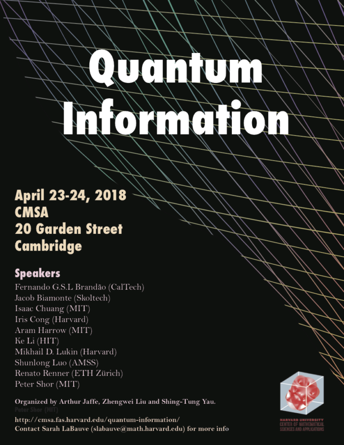 Quantum Information 2018 Workshop Poster