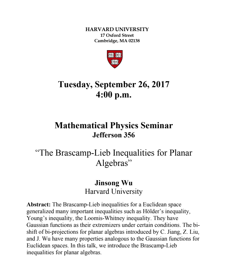 The Brascamp-Lieb Inequalities for Planar Algebras