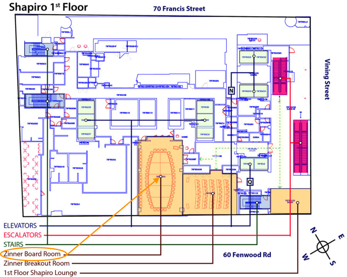 zinner board room map